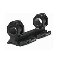 TENSDARCAM 25 4mm 30mm Dual Ring Cantilever HeavyDuty Scope Mount Quick Release Picatinny Weaver Rail Hunting
