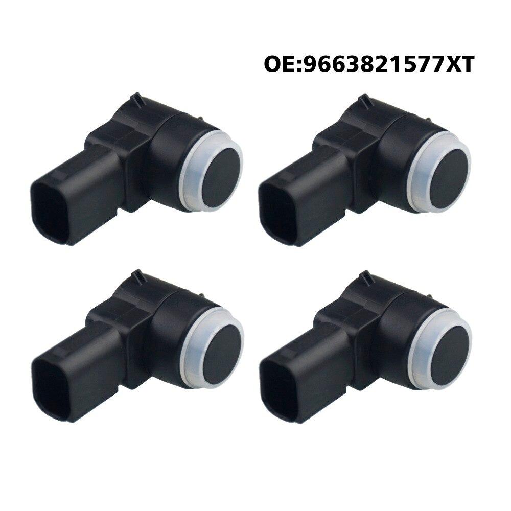 4x Rear Bumper Parking Aid Sensor For Citroen C4 C5 Peugeot 307 308 9663821577XT