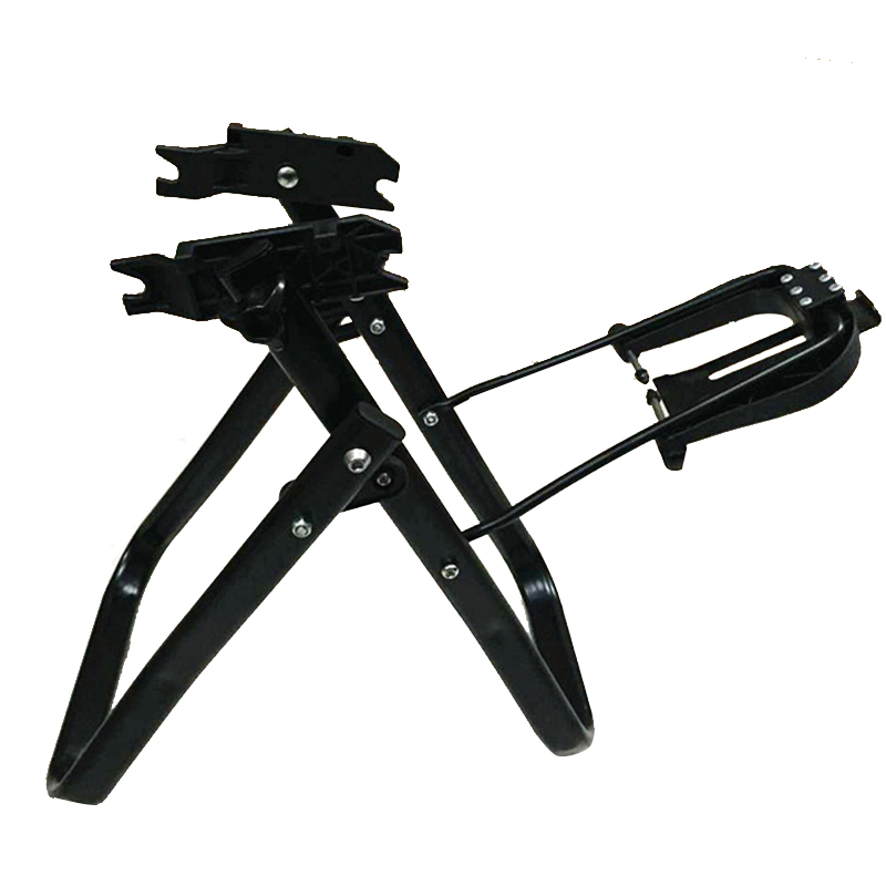 Bicyle Repair Tool Aluminum Alloy Bicycle Wheel Truing Stand Folding Front and Rear Conversion Bike Wheel Maintenance Support agekusl bicycle wheel truing stand bicycle wheel maintenance mtb road bike wheel repair tools store home mechanic truing stand