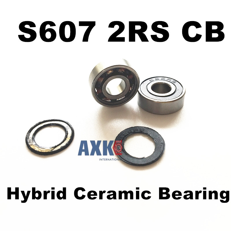 Free Shipping S607 2RS CB 7x19x6 mm hybrid si3n4 ceramic Engine bearingFree Shipping S607 2RS CB 7x19x6 mm hybrid si3n4 ceramic Engine bearing