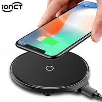 IONCT QI chargeur sans fil pour iPhone X 8 Plus XR XS Max pour Samsung S8 S9 pour Huawei Xiaomi charge Dock sans fil Pad