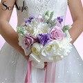 SoAyle Горячий продавать Свадебный Букет 2016 свадебные букеты 24 см * 29 см 0.6 Кг Rhinestone кристаллическое суккуленты свадебные цветы цветы