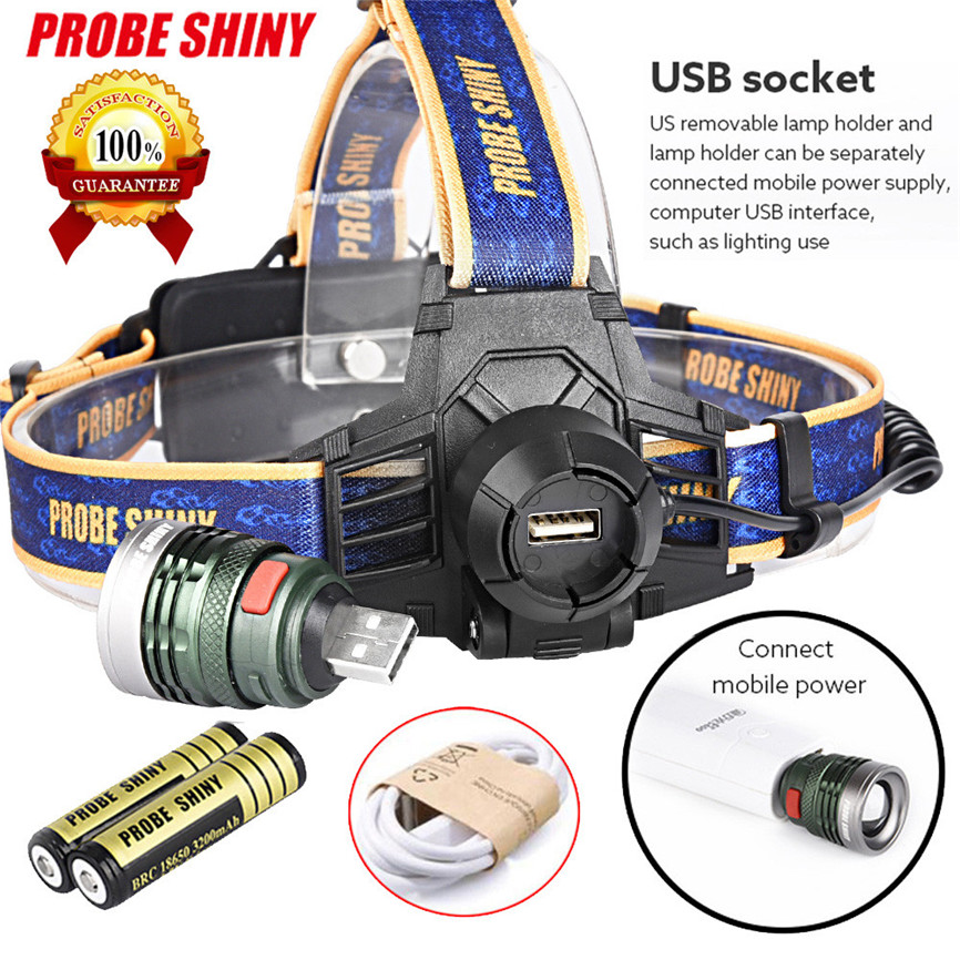 Super New Arrival 10000LM XM-L T6 Headlamp Headlight Head Light LED Rechargeable USB+Battery Dropshipping A35