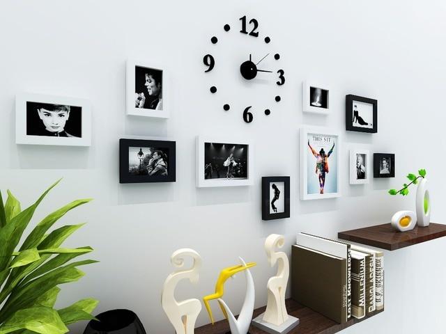 Accueil Décoration Cadre Mur Chambre Décoration Cadre Photo Mur Bande  Horloge