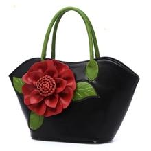 Luxury Handbags Women Bags Designer 2018 Fashion Flower Big Tote Bag High Quality Leather Vintage Ladies Hand Bags Famous Brands