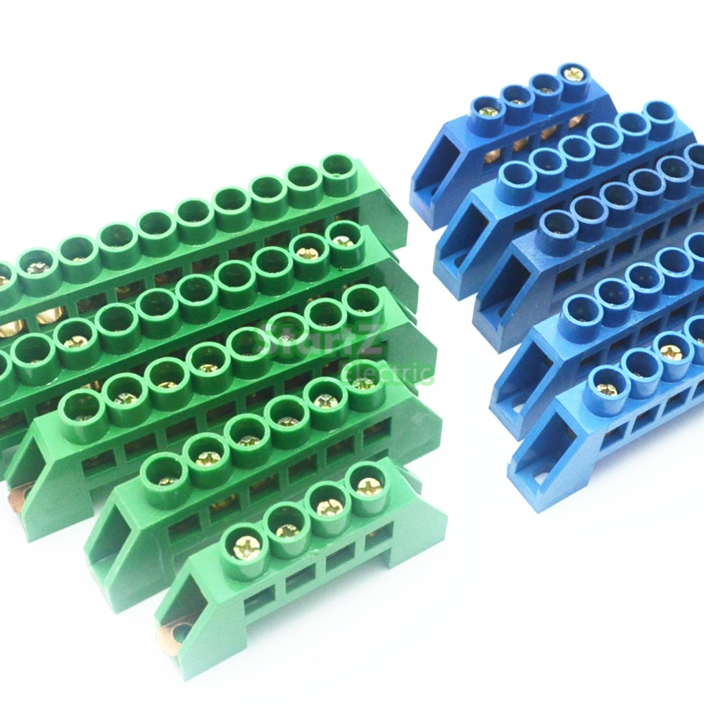 Green Blue Screw Brass Terminal Block Earth And Neutral With 4 Switch Dpdt 2 X 3 Dudukan Knop Aeproductgetsubject