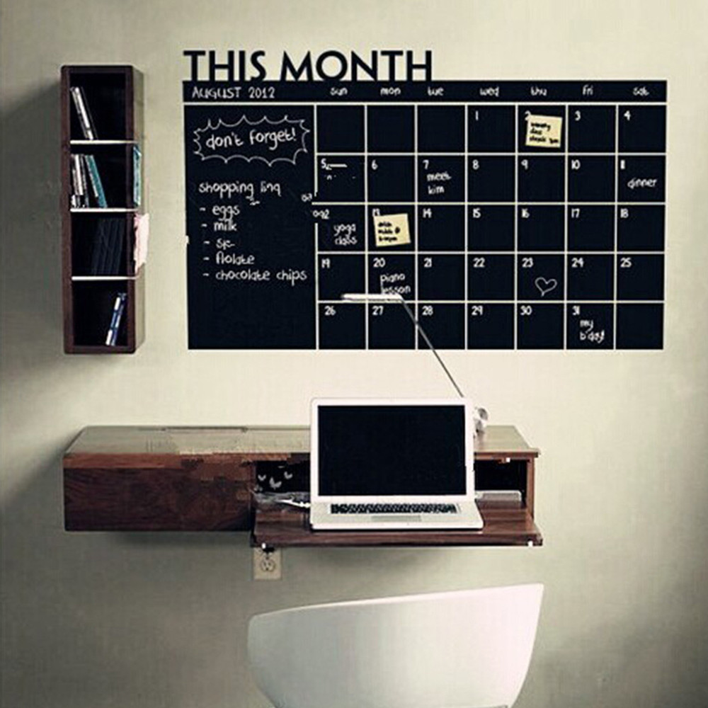 popular bedroom wall stickers for adultsbuy cheap bedroom wall  - x month plan calendar chalkboard blackboard vinyl wall sticker for kidbedroom adult study living room