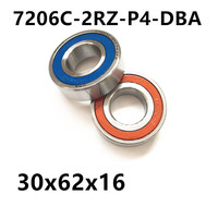 1 Pair AXK 7206 7206C 2RZ P4 DBA 30x62x16 Sealed Angular Contact Bearings Speed Spindle Bearings