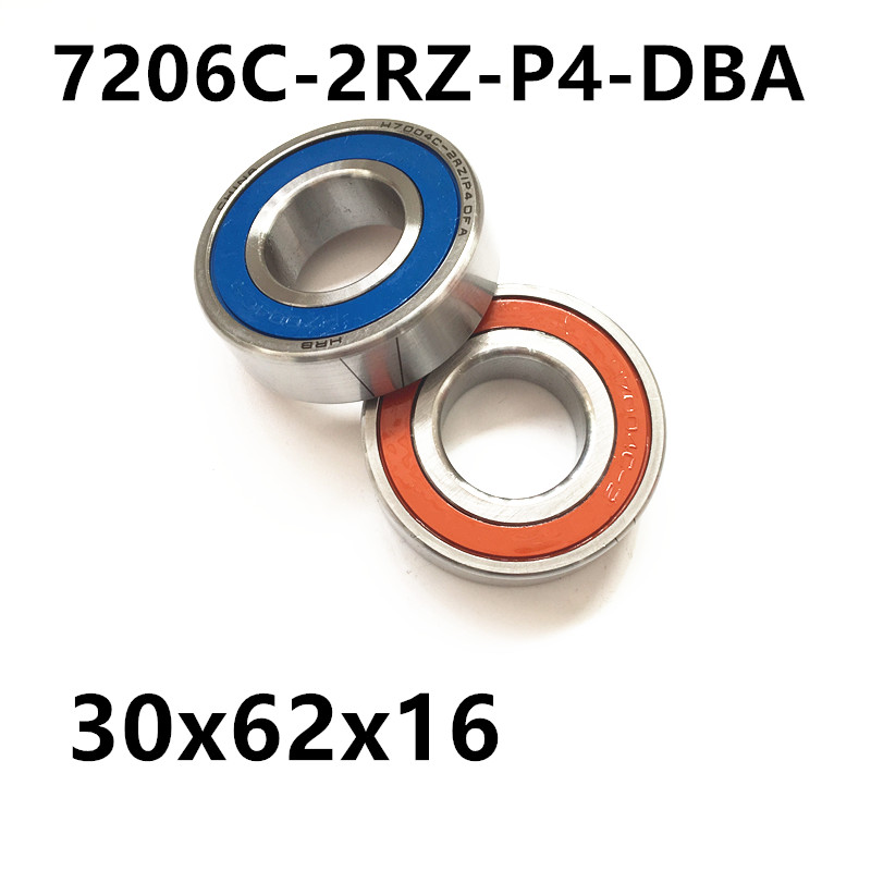 1 pair AXK  7206 7206C-2RZ-P4-DBA 30x62x16 Sealed Angular Contact Bearings Speed Spindle Bearings CNC ABEC 7 Engraving machine 1pcs 71901 71901cd p4 7901 12x24x6 mochu thin walled miniature angular contact bearings speed spindle bearings cnc abec 7