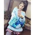 Tailândia marca maré personalizado barra pescoço senhoras grosso pesado Paetês coloridos fêmea grande camisola solta