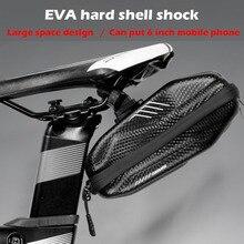 Wild Man Waterproof EVA hard shell 0.8L Bike Bag under Seat Bicycle Saddle Road MTB Shockproof Cycling Pocket Accessories