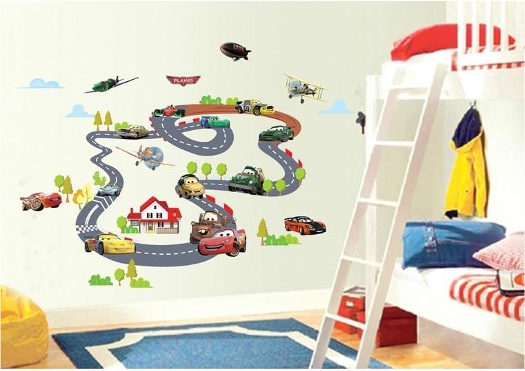 Cars Slaapkamer Decoratie : Grappige jongens cars kanaal muurstickers decals thuis slaapkamer