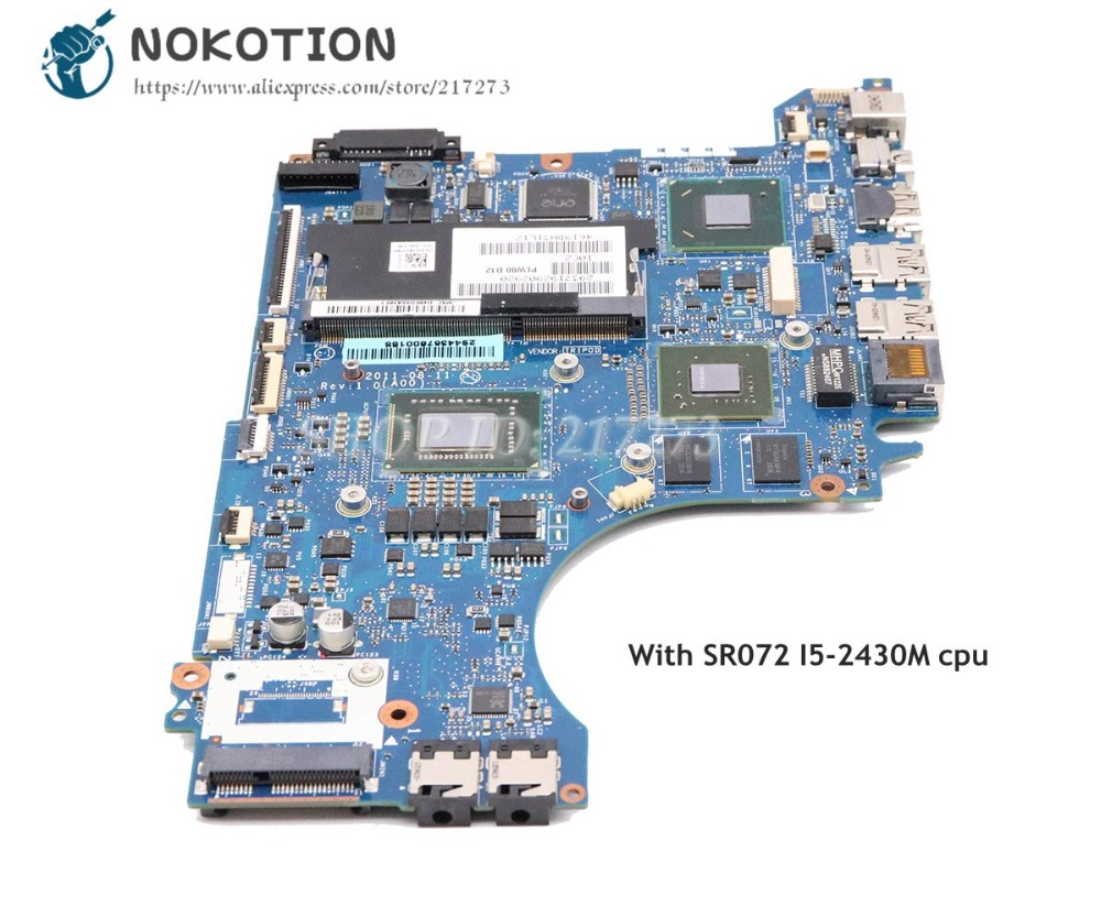 NOKOTION For Dell XPS 14Z L412Z Laptop Motherboard CN-01GY8V 01GY8V PLW00 LA-7451P I5-2450M CPU GT520M 1GBNOKOTION For Dell XPS 14Z L412Z Laptop Motherboard CN-01GY8V 01GY8V PLW00 LA-7451P I5-2450M CPU GT520M 1GB