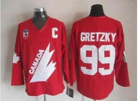 Mario Lemieux WAYNE GRETZKY Mark Messier Dale Hawerchuk Ray Bourque Customize  any number and name Canada 3242a616c