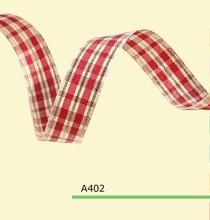 100yards/roll 1 Inch(25mm) Fashional Tartan Gingham Ribbon For Christmas Bows