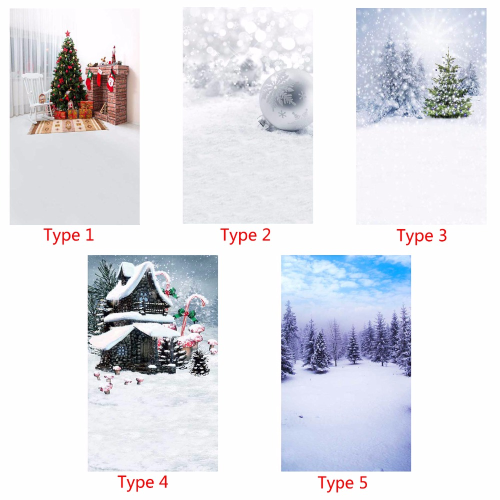 Vinyl Photography Background Snowflake Christmas Tree Computer Printed children Photography Backdrops for Photo Studio 5X7ft
