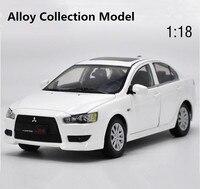 Оригинальный высокая симуляция mitsubishi lancer ex модель, 1: 18 сплав коллекция автомобиля игрушки, 6 открыть дверь игрушечный автомобиль, бесплатна
