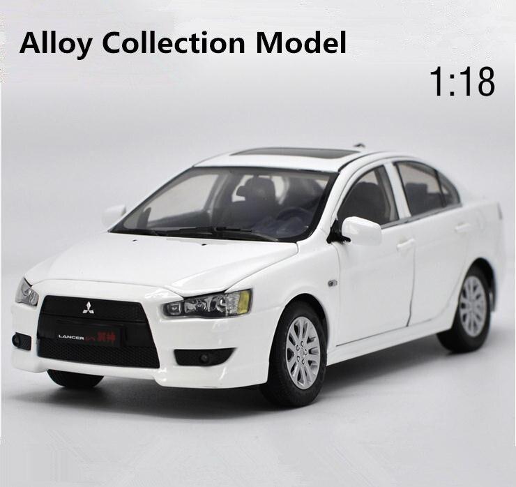 D'origine haute simulation mitsubishi lancer-ex modèle, 1: 18 alliage jouets voiture de collection, 6 ouvrir la porte jouet véhicule, livraison gratuite