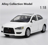 Original high simulation mitsubishi lancer ex model, 1: 18 alloy collection car toys, 6 open the door toy vehicle, free shipping