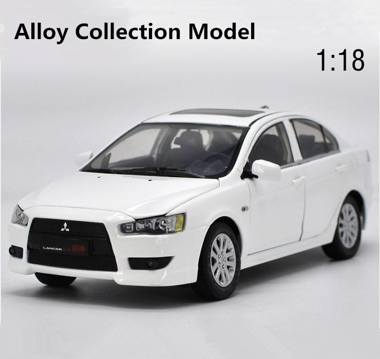 Original high simulation mitsubishi lancer-ex model, 1: 18 alloy collection car toys, 6 open the door toy vehicle, free shipping red mitsubishi lancer fortis diecast model show car miniature toys classcal slot cars