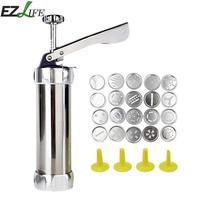 25pcs/set Creative Baking Mold Tools Biscuit Extruder Cookie Stamps Mold Spray Nozzle Set For DIY Baking Pastry Mold LQX4502