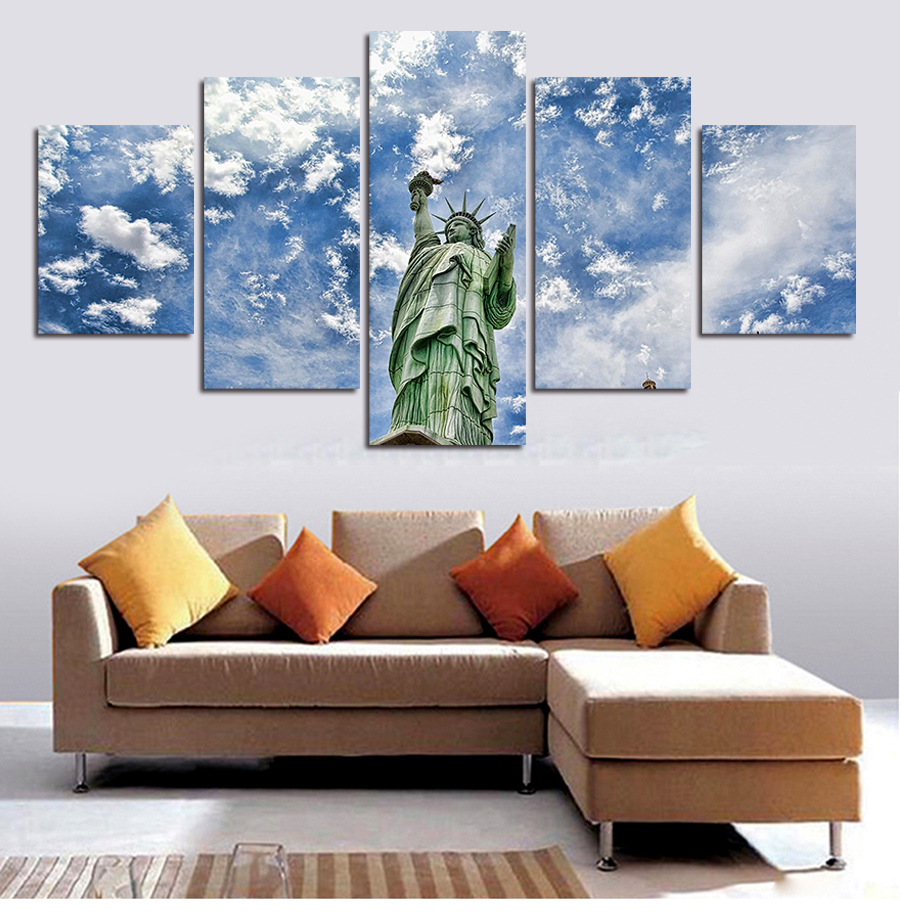 heaven painting promotion shop for promotional heaven painting on 5 piece home decor heaven canvas wall art decor painting wall picture canvas art print on canvas the decoration for the house
