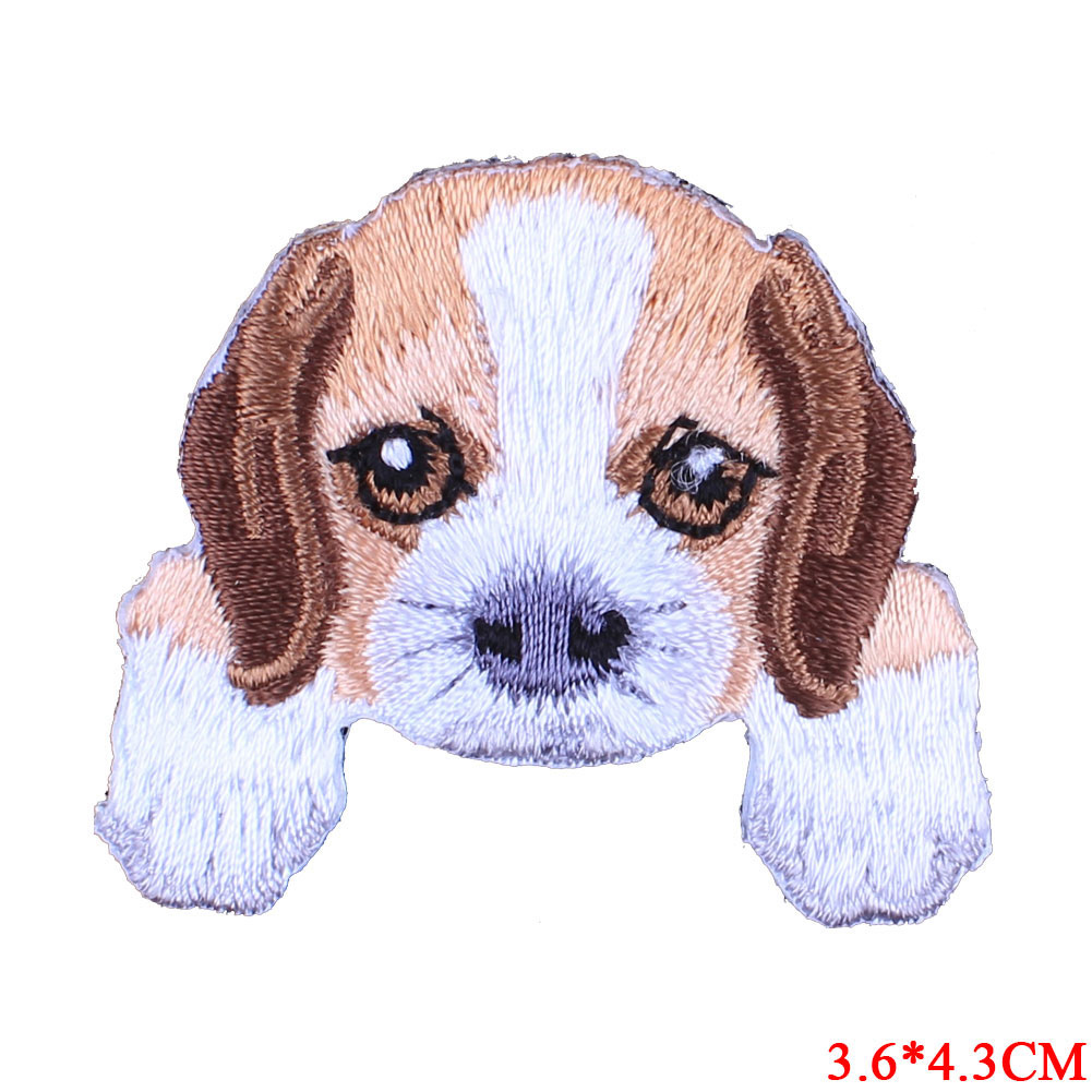 1 pcs cute dog cat embroidered patches for clothes kids backpack decor small patches clothing applications cartoon Tiger stripes in Patches from Home Garden