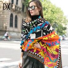 暖かいスカーフファッションスカーフとショール女性岬イスラム教徒ヒジャーブ格子縞の毛布スカーフウールバンダナポンチョフェイスシールド高級ブランド