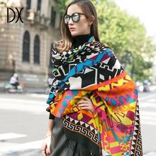 따뜻한 스카프 패션 스카프와 Shawls 여성 케이프 이슬람 Hijab 격자 무늬 담요 스카프 양모 두건 판초 얼굴 방패 럭셔리 브랜드