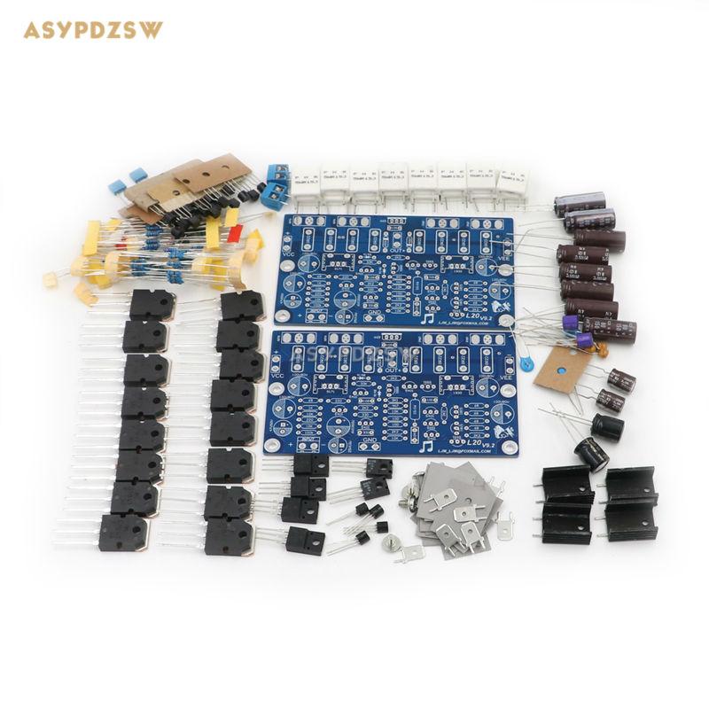 2 UNIDS Hi-end L20 (2 canal) amplificador de potencia de Audio stero Kit DIY 200