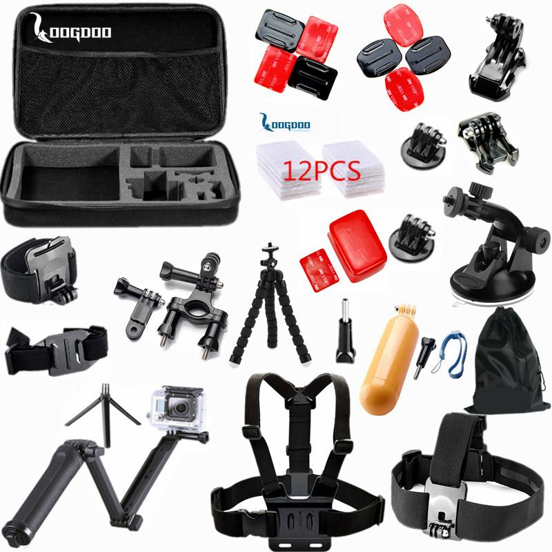 Prix pour LoogDoo pour Gopro accesorios 35 en 1 set Trépied 3 Voies Manfrotto pour Go Pro Hero 5 4 3 2 1 Xiaomi YI H9 SJ4000 camera action TZ46