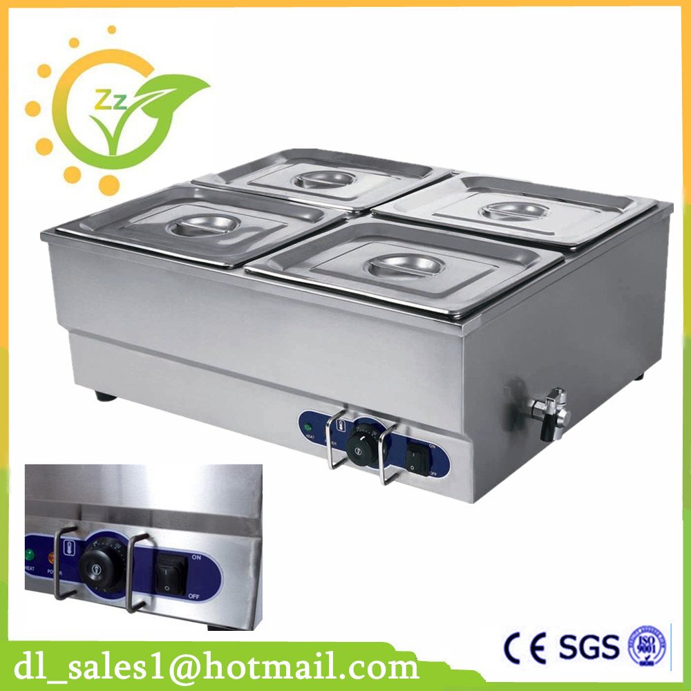professional commercial kitchen equipment Food warmer 220V stainless steel electric countertop bain marie fast food leisure fast food equipment stainless steel gas fryer 3l spanish churro maker machine