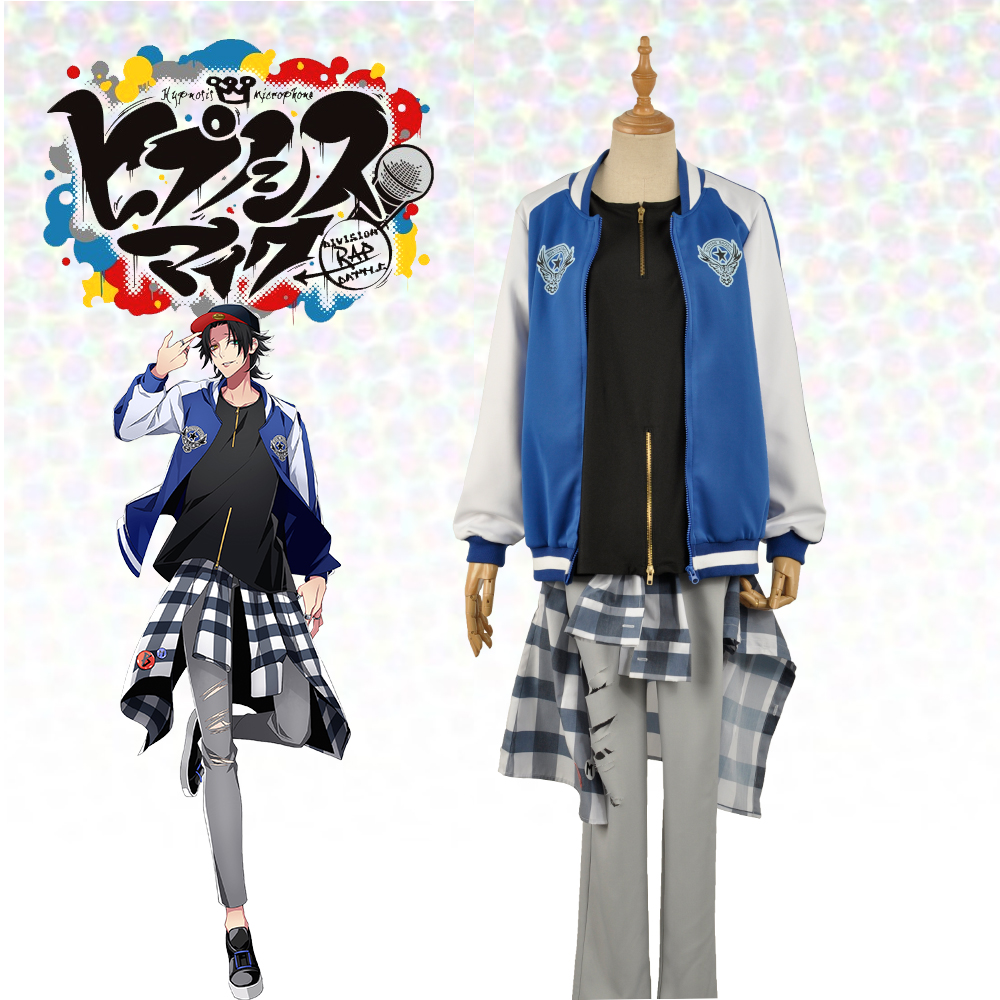 US $39 99 |Japanese Voice Actor Division Rap Battle Yamada Nirou Jiro  Hypnosis Mic Buster Bros!!! MC M B Plaid Shirt Pants Cosplay Costume-in  Anime
