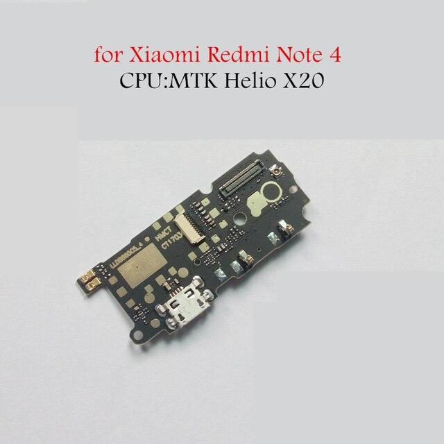 Для Xiaomi Redmi Note 4 MTK USB разъем для зарядного устройства Flex кабель зарядка через usb док-станция для микросхема для монтажа на печатной плате для гибких кабелей запасных Запчасти