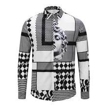Seestern marca nueva ropa Avatar hombres moda vestido partido club manga  larga blusa hombres nightclub camisas Ángel 89fe2f85c92