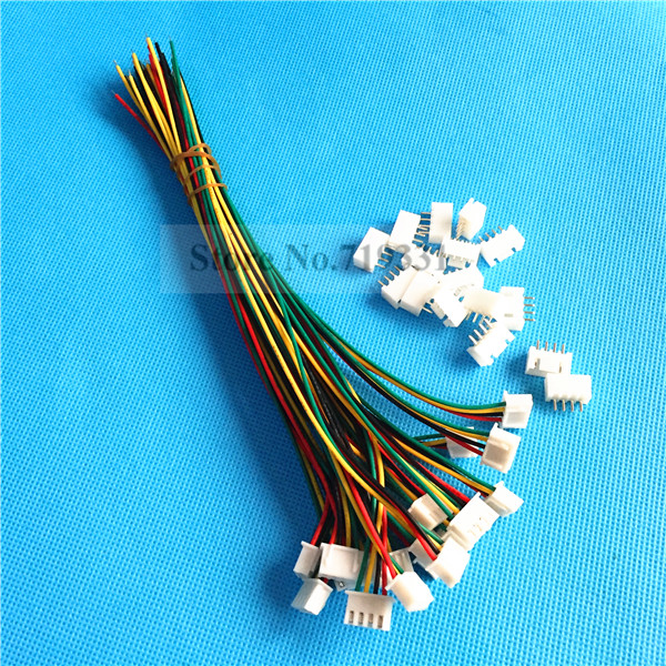 50Sets XH2.54 Single Head 4Pin 4Way Wire To Board Connector With ...