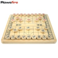 Rowsfire 2 in 1 Chinese Chess and Checkers Chequers Wooden Game Set MT7201