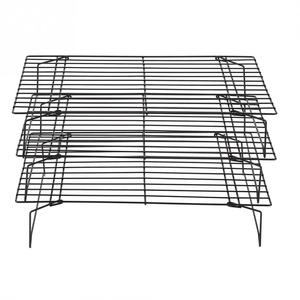 Image 5 - 3 Layers stackable cooling rack metal cake cookie biscuits bread cooling rack net mat holder dry cooler for cooking