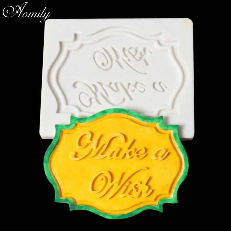 Aomily Make a Wish слово силиконовые формы DIY торт Фондант Отделка Инструменты домашнее печенье шоколад плесень Формы для выпечки Инструменты