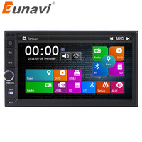 Eunavi Double 2 Din 7 Inch Universal Car Radio Gps Navigation Autoradio Stereo With Bluetooth Touch
