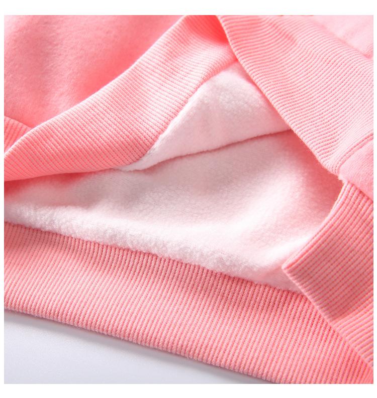 Cute Ball Ice Cream Girls Sweatshirt Autumn Winter Thick Warm Kids Sweatshirts for Girl O-neck Long Sleeve Children Top Clothing 12