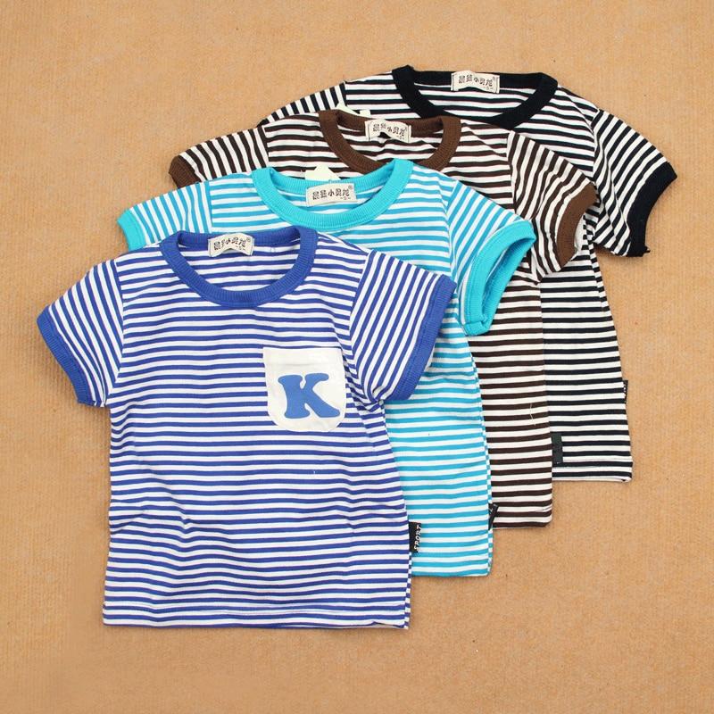 Nostalgic vintage navy style shirt summer male female child children baby clothing cotton stripe short-sleeve 100% T-shirt 4