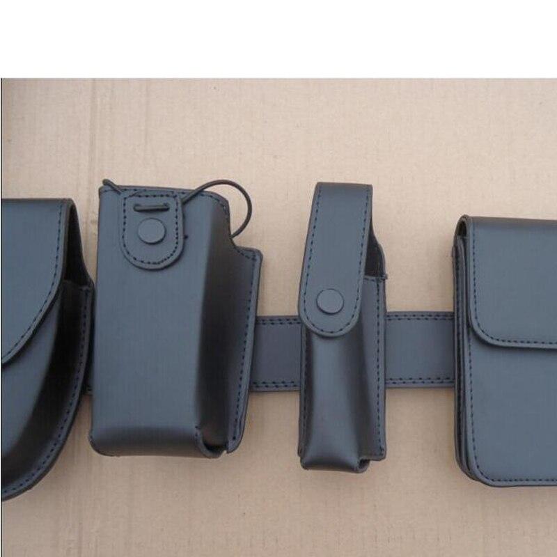 Купить с кэшбэком Tactical Leather Patrol Duty Belt Dundeswehr Ausrustung Swat Gear Security Equipment 8 in 1 Multifunction Security Police Belt