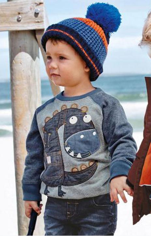 2017 New arrivals Boy's Cotton Sweaters Brand Baby Boys Clothing Children Kids Clothes Boys girls dinosaur Sweatshirt t shirts