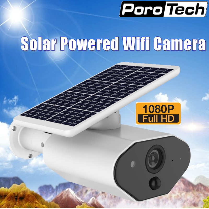 Wireless WIFI Solar Powered IP Camera HD 1080P PIR Detection Waterproof Outdoor Security Camera with Rechargeable Battery L4Wireless WIFI Solar Powered IP Camera HD 1080P PIR Detection Waterproof Outdoor Security Camera with Rechargeable Battery L4