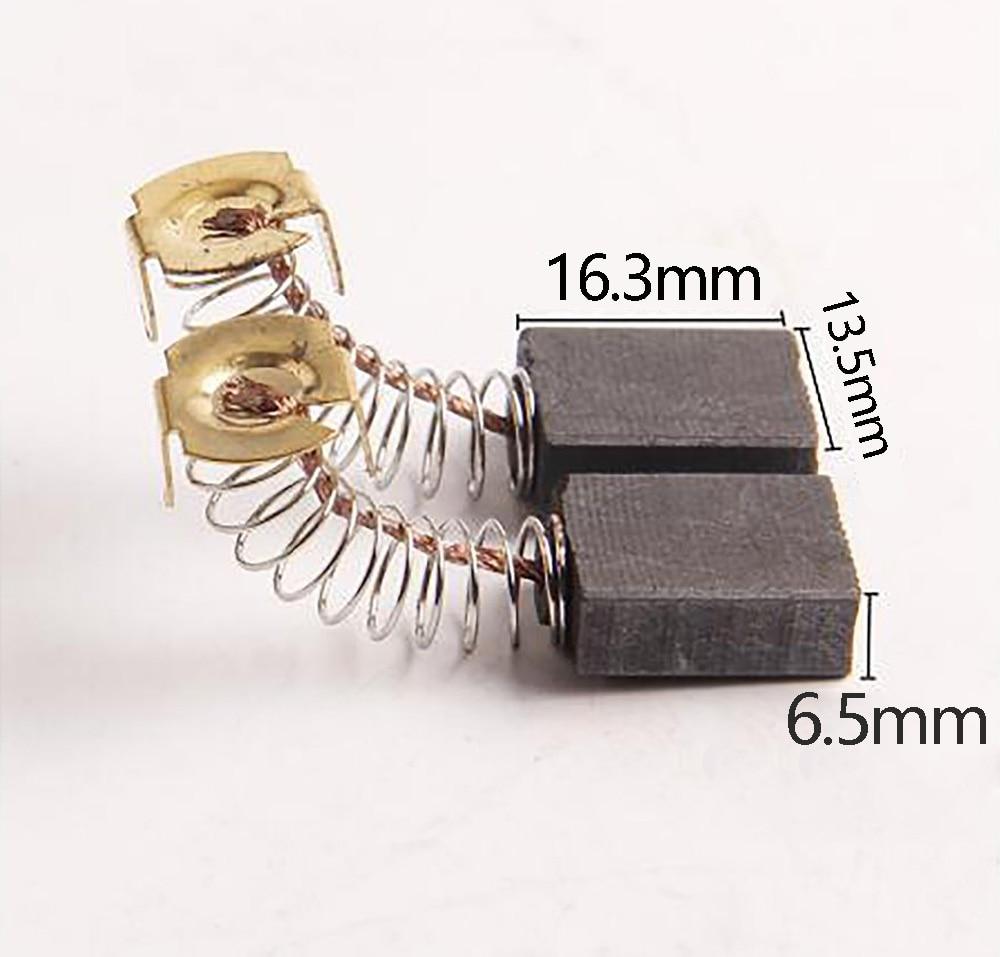 Spazzole di carbone JLI 20Pcs 6.5 * 13.5 * 16.3mm CB-153 per sega - Accessori per elettroutensili - Fotografia 2