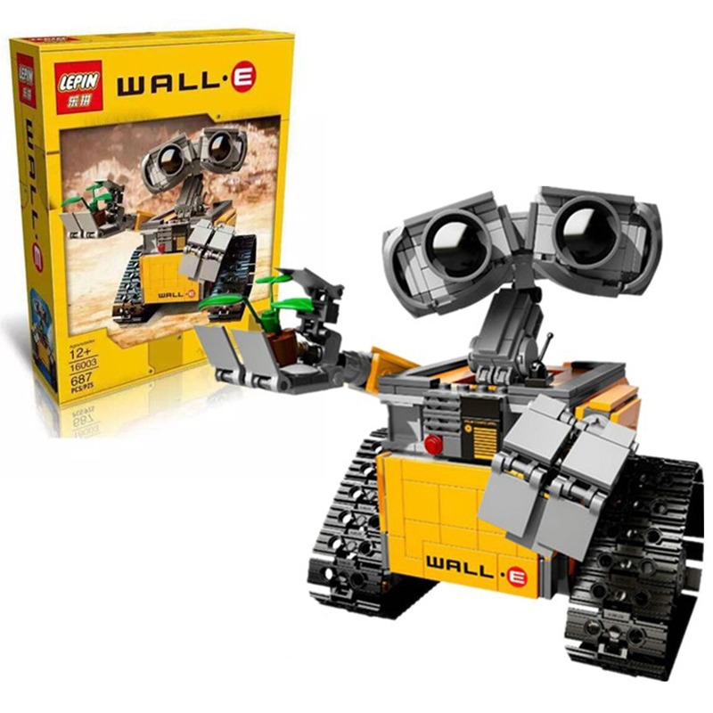 Lepin Building Blocks Bricks Star War Wall-E Building Blocks ABS Plastic Self-Locking Bricks Model Educational Toys For Children 100pcd pack children snowflake match building blocks colorful self locking bricks 3 5cm big plastic blocks kids educational toys