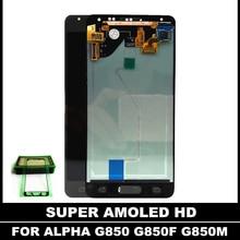 100% Testé AMOLED LCD pour Samsung Galaxy Note4 Mini Alpha G850 G850F G850M LCD Affichage à L'écran Tactile Digitizer Assemblée Autocollant