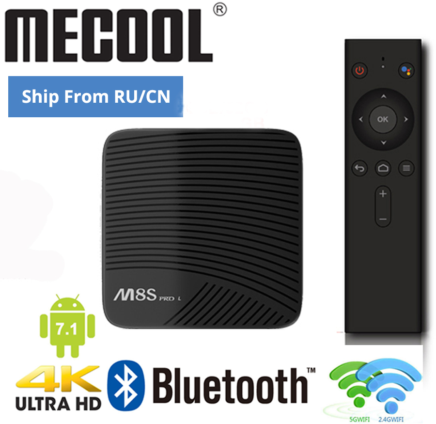 M8S PRO L Android TV Prefix Amlogic S912 Android Voice TV BOX 4K 60fps Streaming 3GB 16GB/32GB Media Player 4K WIFI Smart TV BOX