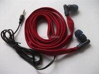 Red Washable Earphone Drawcord MP3 Earbud Clothes Washable Earphones Hoodie Built In MP3 Waterproof Headphone